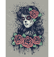 Day of Dead Girl 2 vector image