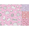 Doodle bakeryCakes seamless patternVintage vector image