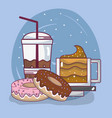 drink and desserts vector image vector image