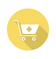 drugstore shopping flat design long shadow glyph vector image vector image
