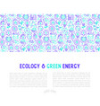 ecology and green energy concept vector image vector image
