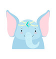 elephant funny face with pearl headgear cute vector image vector image