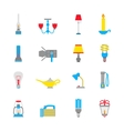 Flashlight and Lamps Icons vector image vector image