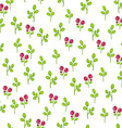 Floral pattern with cranberries vector image vector image