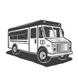 food truck monochrome style vector image