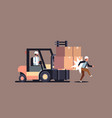 forklift driver hitting colleague factory accident vector image