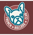 French Bulldog Club Circle Emblem Design vector image