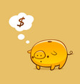 gold piggy bank vector image
