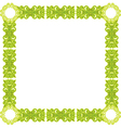 green pattern frame vector image