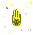 grey line symbol jainism or jain dharma icon vector image vector image
