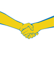 Hand shake vector image vector image