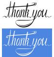 handwritten inscription set of thank you card vector image vector image