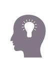 Head a bulb vector image vector image