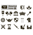 Histoical icons vector image vector image