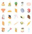 homestead icons set cartoon style vector image vector image