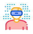 human vr glasses icon outline vector image vector image