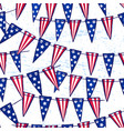 ink hand drawn seamless pattern with flag garland vector image vector image