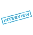 Interview Rubber Stamp vector image vector image