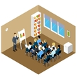 Isometric Indoor Classes Composition vector image