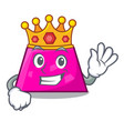 king trapezoid mascot cartoon style vector image vector image