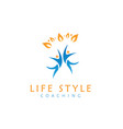life style logo design symbol template flat style vector image vector image