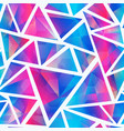light triangle seamless pattern vector image