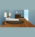 little boy sleeping in bedroom vector image vector image