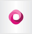 looped logo magenta business icon vector image