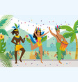 men and girl dancers with traditional costume vector image