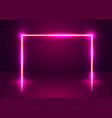 neon show light podium futuristic background vector image vector image