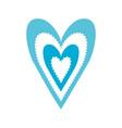 paper blue heart love romance passion decoration vector image