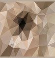 polygonal square background beige brown vector image vector image