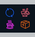 Refresh coffee cup and tea cup icons package