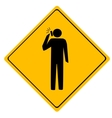 Road sign Man working vector image vector image