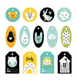 scandinavian tags vector image