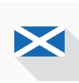 Scotland national flag flat icon vector image vector image