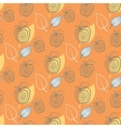 Seamless pattern with appleAppleyeelowleaf vector image