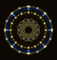 shiny circle with mandala vector image