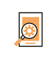 smartphone app setting web development icon line vector image