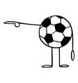 soccer or football ball cartoon character vector image
