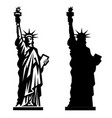 statue liberty new york landmark american vector image vector image