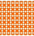 Tile orange and white x cross pattern vector image vector image