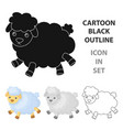 toy sheep icon in cartoon style isolated on white vector image vector image