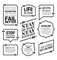 typographic quote template bubble template set vector image vector image