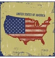 USA map grunge style vector image vector image