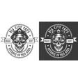 vintage monochrome police officer logo vector image