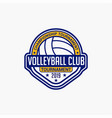 volleyball club badge logo-8 vector image