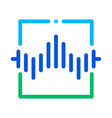 wireless sensor voice control icon vector image