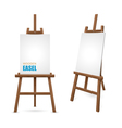 Wooden Artist Easel vector image