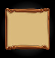 wooden board template blank banner for game vector image vector image